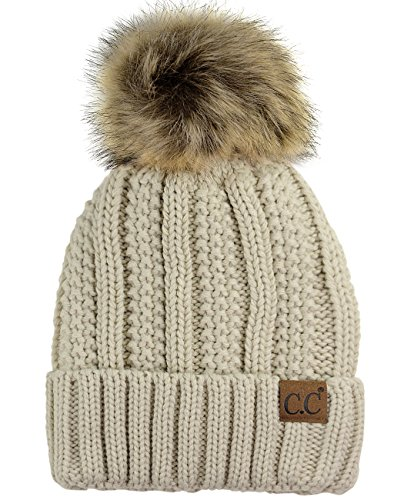 C.C Thick Cable Knit Faux Fuzzy ...