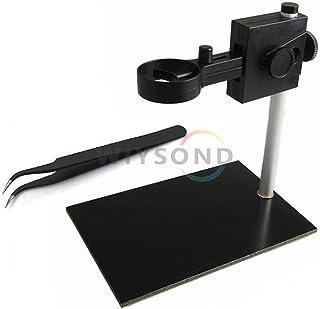 Wiysond ポータブル ベンチ USB デジタル 顕微鏡 内視鏡 拡大鏡 カメラ スタンド ベス + 1枚ESD静電防止ピンセット