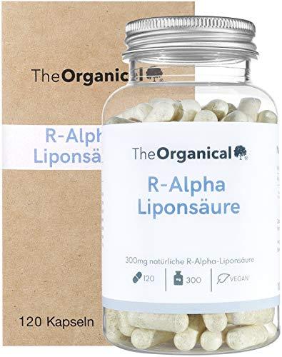 TheOrganical® R-Alpha Liponsäure | 300 mg pro Kapsel | 120 Kapseln | natürlicher R Alpha Liponsäure | Hergestellt in Hamburg | Volle Wirkung |