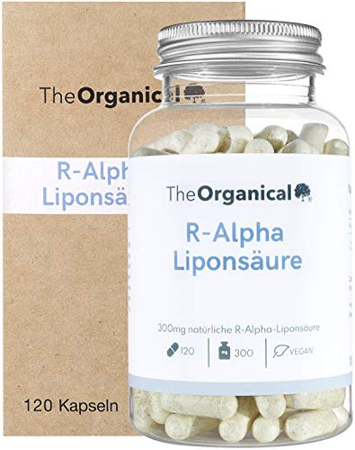 TheOrganical® R-Alpha Liponsäure | 300 mg pro Kapsel | 120 Kapseln | natürlicher R Alpha Liponsäure | Hergestellt in Hamburg | Volle Wirkung |