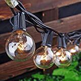 Afirst Outdoor String Lights 25Ft Patio String Lights with 25 Edison Bulbs Waterproof Vintage Hanging Lights for Porch Market Backyard Patio Party Wedding Gazebo Lighting-Black