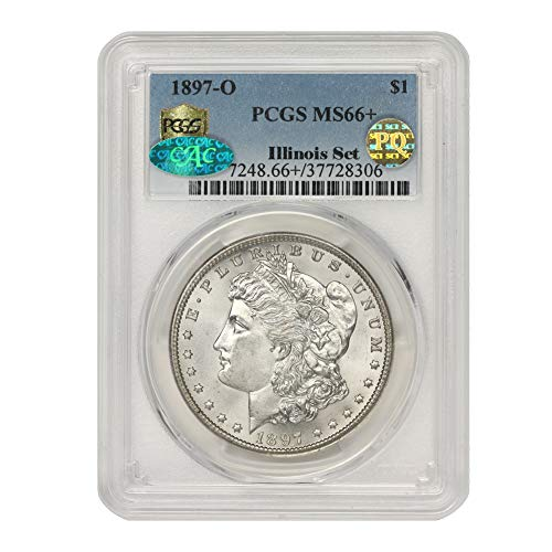 1897 O American Silver Morgan Dollar MS-66+ PQ Approved Illinois Set by CoinFolio $1 MS66+ PCGS/CAC