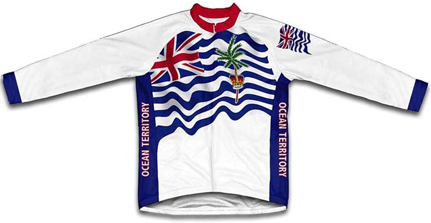 British Indian Ocean Territory Flag Winter Thermal Cycling Jersey for Women