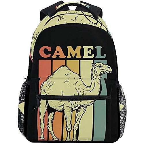 Schoudertas Vintage Camel woestijn Print Lichtgewicht Camping Reizen Universele Casual College School Tas Dagtas Laptop