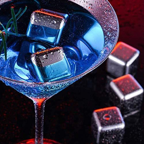 EVERANGEL Eiswerkzeuge Eiswürfelschärfer aus Edelstahl 304, schnell Gefrorene Eiswürfel, Kaffeegetränke, Whisky, Barwein, Kreativbedarf