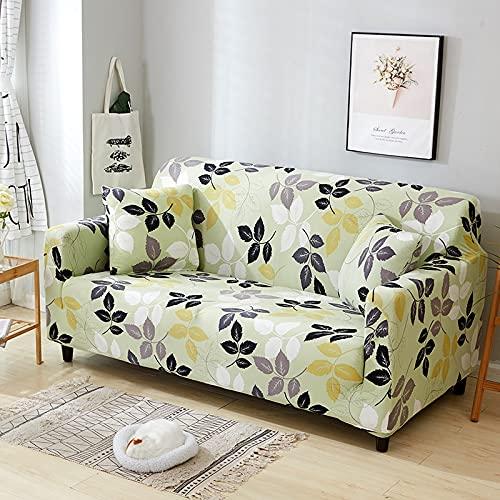 Funda de sofá con Estampado nórdico, Funda de sofá firmemente Envuelta, Funda de sofá elástica elástica de Spandex, Adecuada para el sofá de la Esquina del Asiento A10 de 2 plazas