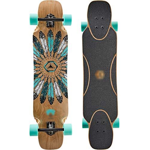 Skateboarden Longboard High-End Bambus Fiberglas Erwachsene Jungen Und Mädchen Anfänger Allround-Tanzbrett Professioneller Allrad-Roller Für Anfänger Unisex Skill Board Für Anfänger