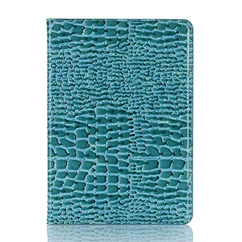 SHENGZHENHAOLIJJYPSH Crocodile Leather Interchange Stand Light-Weight Tablet Case Cover Compatible with iPad Air (3rd Gen) 2019 / iPad Pro 10.5 2017 (Color : Blue)