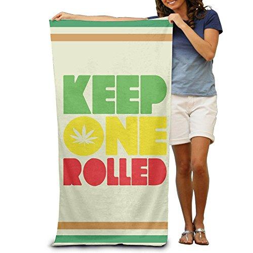 Keep One Rolled Rasta - Toallas de baño de cannabis para adultos, suave, absorbentes, 78,7 x 121,9 cm