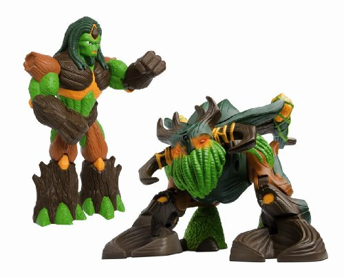 Gormiti Lords of Nature Return Infa-red Robot Troncalion with 22cm Forest Lord by Flair