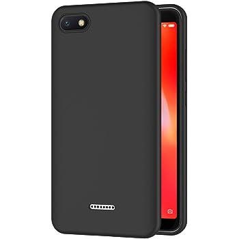 AICEK Funda Xiaomi Redmi 6A, Negro Silicona Fundas para Xiaomi ...