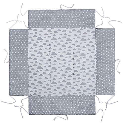 Lulando LULANDO Colchón para cambiador + 2 alfombrillas extraíbles e impermeables 76 cm x 76 cm 1 Unidad 500 g