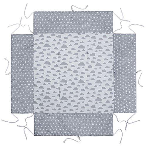 LULANDO Tour de parc pour Bébé avec tapis 100x 100cm