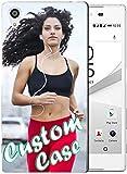 Coque de téléphone personnalisable compatible avec Sony Xperia Z5 - Coque transparente en TPU...