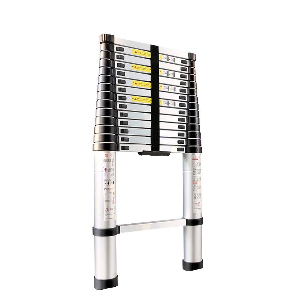 Escaleras plegables aluminio Escalera Telescópica de Aluminio, Escalera Extensible con Mecanismo de Bloqueo con Muelle for Uso en Despachos en el Hogar, Costillas Antideslizantes Capacidad de 330 Libr: Amazon.es: Hogar