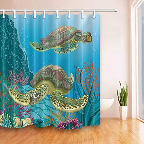 cortinas baño tortuga