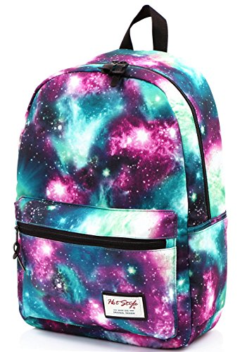 hotstyle TRENDYMAX Galaxy Backpack Cute for School | 16'x12'x6' | Holds 15-inch Laptop | Green