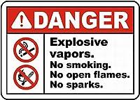 危険爆発性蒸気壁金属ポスターレトロプラーク警告ブリキサインヴィンテージ鉄絵画装飾バーガレージカフェのための面白いハンギングクラフト