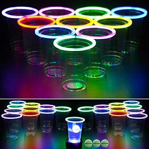 GLOWPONG All Mixed Up Glow-in-The-Dark Beer Pong...