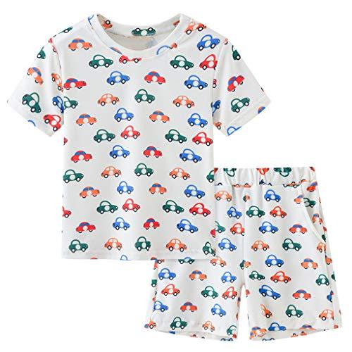 Janly Clearance Sale Conjunto de trajes para niños de 0 a 6 años, para bebés y niñas y niños, diseño de dibujos animados, ideal como regalo de Pascua, juego de ropa para bebés de 3 a 4 años (rojo)