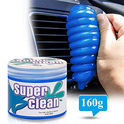 Degbit Keyboard Cleaner, Dust Cleaning Gel for Car Interior Detailing Putty, Universal Dust Cleaner Mud for Car Vent/PC/Laptop/Cameras/Printer/Reusable, Cleaning Kit/Dust Remover Slime for Auto/Office