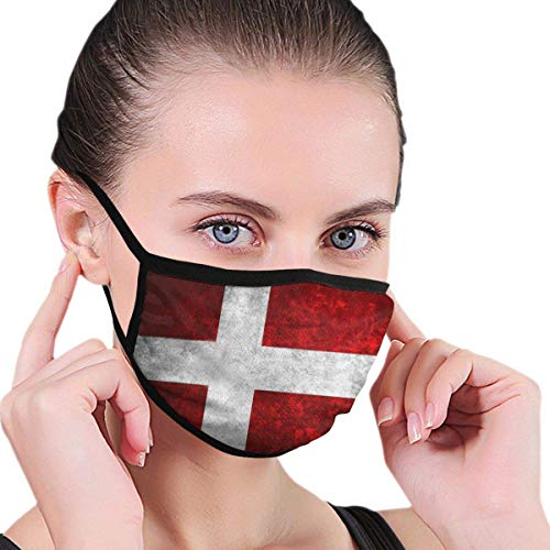 Na 0 Flagge Skandinavien Europa Dänemark Mundmaske für Männer & Frauen