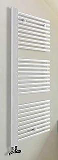 H&S Radiador de baño Toro Blanco 60cm de ancho, altura 160cm, sin conector de escobillero, hs60160