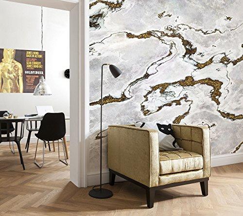Komar - fotobehang MARMORO - 368 x 254 cm - behang, wand, decoratie, muurbehang, muurschildering, muurdeco, mamor, steenlook, marmeren wand, marmolook - 8-981
