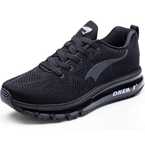 Onemix Herren-Laufschuhe, leichte Sportschuhe, Turnschuhe, Schwarz - Schwarz - Größe: 40 2/3 EU