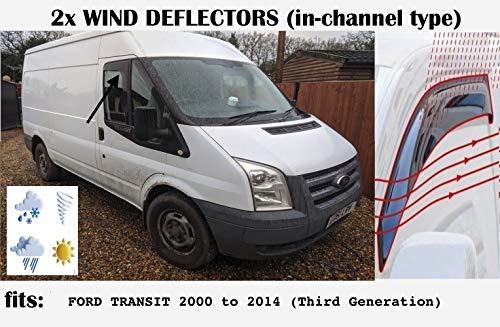 OEMM Windabweiser für Ford Transit 3. Generation, 2000 bis 2014, Acrylglas Seitenblenden