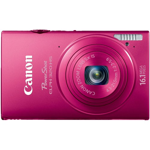 Canon PowerShot ELPH 320 HS 16.1 MP Wi-Fi Enabled CMOS Digital Camera with 5x Zoom 24mm Wide-Angle Lens with 1080p Full HD Video and 3.2-Inch Touch Panel LCD (Red)