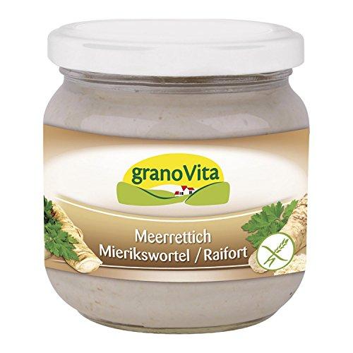 Meerrettich-Creme von GranoVita vegan, glutenfrei 170g - Bio