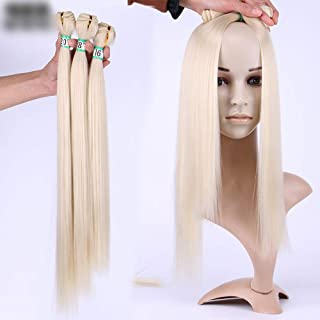 """Natural Hairpieces Fashian Women Hair Weave Straight Bundles Hair Styling 3 Bundles - 613# Blonde Hair Extensions (Color : Blonde, Size : 16""""-16""""-16"""")"""