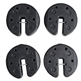 C-Hopetree Gazebo Tailgater Portable Canopy Weights for Pop Up Tents, Set of 4, 28lb, Black