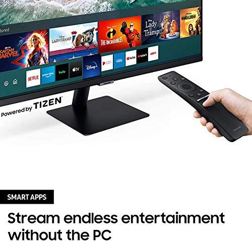 Samsung M5 Smart Monitor 32 Zoll Bildschirm VA mit Lautsprechern FHD Randlos Smart TV Apps
