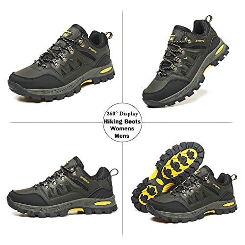 Zapatillas Trekking Hombre Mujer Zapatillas de Senderismo Transpirable Montaña Botas de Senderismo Hombre Antideslizante Caminar Verde 41 EU