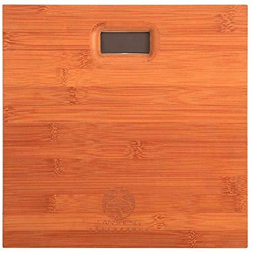 WCJ gepolijste massief houten plaat elektronische weegschaal High Precision hout verlicht LCD-display elektronische weegschaal, afmetingen: 33 x 33 cm.