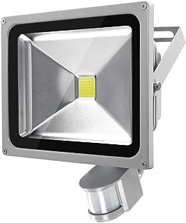 LED 人感 センサー 投光器 50W 電圧85-265V IP66防塵防水 3mACコード 音補助で高感度 高安定性 防犯ライト