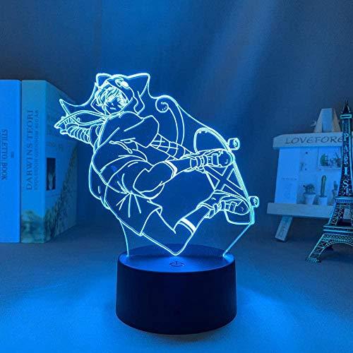 Lámpara de anime SK8 The Infinity Figure Miya Chinen Led Luz de noche para decoración de dormitorio Luz de noche Niños Regalo de cumpleaños Manga Sala 3D Control remoto Control remoto