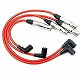 XtremeAmazing Spark Plug Ignition Wire Set For VW Beetle Bora Golf Golf City GTI Jetta Jetta City 2.0L SOHC 09015 3878