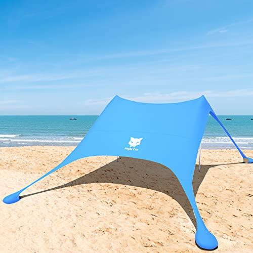 Night Cat Parasole Per Tenda Da Spiaggia Tenda Da Sole Con Protezione UV Con Ancore Sandbag Portatile Per Spiaggia Picnic