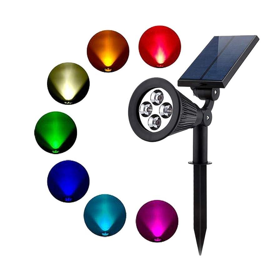 記憶に残る権限を与える加害者EC Hometec ソーラーライト ガーデンライト 光センサー付き 4LEDRGBライト エントランス/玄関/ベランダ/庭/屋外など適用 埋め込み式 庭園ライト
