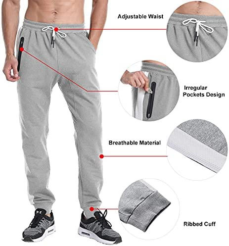 LABEYZON Men's Joggers Slim Fit Gym Workout Jogger Pants for Men Skinny Tapered Running Sweatpants with Pockets