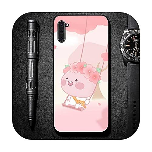 Cute Peach Cartoon Comics teléfono caso para Samsung Galaxy S una nota 6 7 8 9 10 20 31 40 50 51 71 borde más 5G-a7-samsung s10 plus