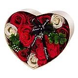 ANBETGefälschte Blumen-GeschenkboxKünstliche Seife Rose für Immer konserviert Damen...