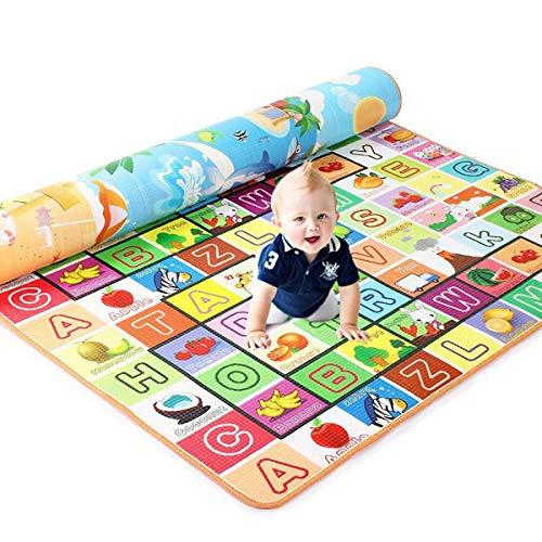 ExcLent 3 Größe Baby Kinder Boden Spielmatte Teppich Picknick Kissen Krabbeln Matte Pad Wasserdicht - A