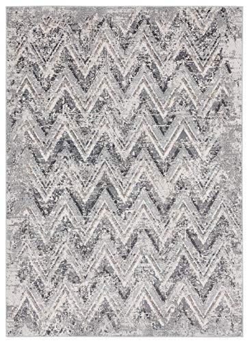 United Weavers Austin Gemology Onyx Accent Rug – 5 ft. 3 in. x 7 ft. 2 in., Onyx Polyester Rug for Interiors. Modern Indoor Rugs