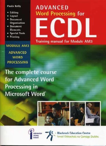 Price comparison product image Advanced Word Processing for ECDL