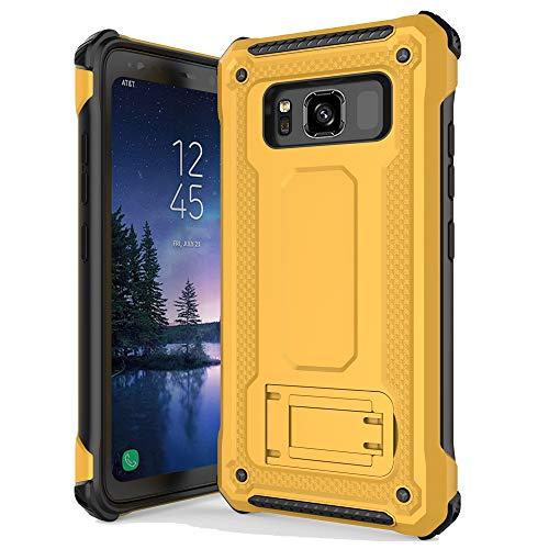 anccer Armor Series für Samsung Galaxy S8 Active Hülle mit Kickstand Anti-Schock Doppelschicht, Schutzhülle für Galaxy S8 Active, unterbindet Fingerabdrücke