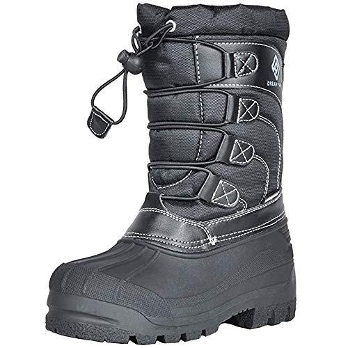 DREAM PAIRS Little Kid Knorth Black Isulated Fur Winter Waterproof Snow Boots Size 2 M US Little Kid